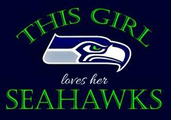 2 Seattle Seahawks This Girl Loves Her Seahawks Vinyl Stickers 5x3.5 Car Decal