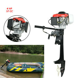 New 57cc 4-stroke Outboard Engine 4 Hp Air Cooling System Jon Boat Kayak