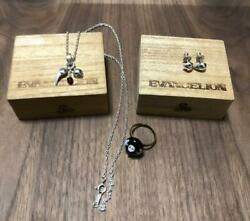 Evangelion Silver Accessory Piasu,necklace,ring Set See Details Dhl F/s Ntsc-j
