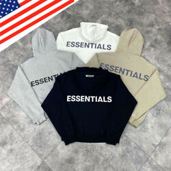 New Fog Essentials Fear Of God Hooded Hoodie Loose Reflective Pullover Unisex Us