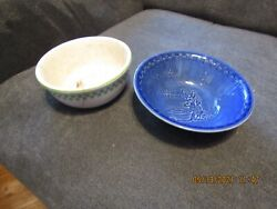 2 Vintage Ralston Purina Advertising Cereal Bowls. As Is. 1 Dated 1925.