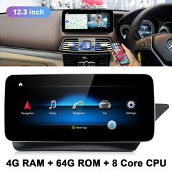 12.3 Android Car Dvd Gps Radio Player Stereo For Benz E Class Coupe 2013-15 Rhd