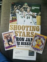 Lebron James Autographed Shooting Stars Upper Deck Coa And 2 2021 Donruss Cards