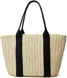 Summer Straw Bag For Women Beach Straw Bag Purse Large Capacity Woven Tote Bags $42.60