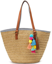 Summer Straw Bag For Women Beach Straw Bag Purse Large Capacity Woven Tote Bags $37.62