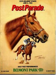 1993 - 125th Belmont Stakes Program In Excellent Condition - Colonial Affair