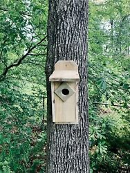 Handcrafted Bird House From Reclaimed Wood - Shipping Included
