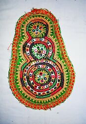 Indian Handmade Zari Embroidered Vintage Patches Designer Dress Stickers Patch