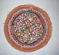 Hippie Indian Vintage Kutch Embroidery Patch Needle Work Patches For Cushions
