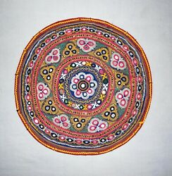 Indian Vintage Rangoli Colorful Embroidery Needle Work Patches Jacket Patch Art