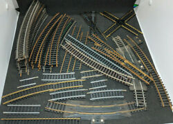 Atlas Ho, Mixed Curves And Straight Track 40 Piece Lot, Vintage Crossings, Switch