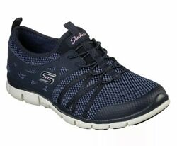 Nib Womenand039s Skechers Gratis What A Sight Shoes Navy Blue Size 7.5