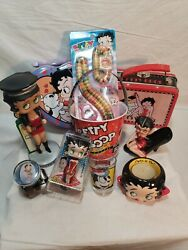 Betty Boop Collectible Tins Figurines Candy Shot Glass And Others