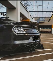 Downforce Solutions Rear Diffuser With Evil Fins 2018+ Mustang Gt