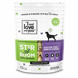 I And Love And You Stir And Boom Dehydrated Freeze Dried Raw Dog Food Turkey 5....