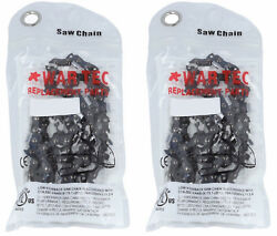 War Tec Chainsaw Chain Pack Of 2 325 Pitch 063 Gauge - 81 Drive Links