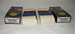 2 Boxes Vintage Poker Chips With Box Thesco Horseshoe Paper Chips