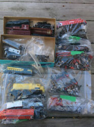 Lot Of 21 N Scale Trains Diesel And Steam Locomotive Engine Boxcars Shells And Parts