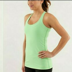 Lululemon Athletica Cool Racerback Green Gingham Tank Top Womens Size 2