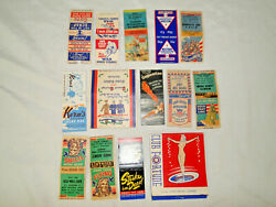 Lot Of 14 Wwii Buy Bonds And Wwii Era Match Book Covers