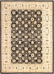 Vintage Tribal Area Rug 10and0390 X 13and03910 Authentic Oushak Hand Knotted Wool Carpet