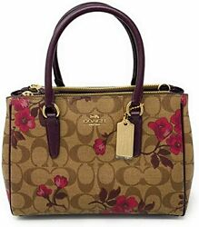 Coach Womens Mini Surrey Carryall In Signature Canvas Victorian Floral Printed