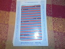 Microscale Ho Decals Amtrak Superliners Stripes Phase Iii 87-519