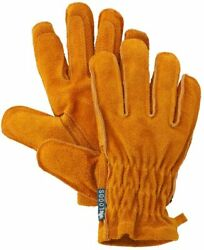 Logos Bbq Heat Resistant Leather Gloves Cowhide From Japan Free Shipping New
