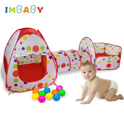 3in1 Play Tent Baby Toy Ball Pool For Ocean Ball Pool Foldable Tunnel Play House