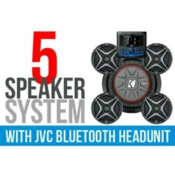 5 Speaker Plug-and-play Kit W Jvc Mr1 Receiver And A6 Speakers And Backup Camera