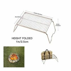Folding Camping Cooking Grill Hiking Backpacking Gear Outdoor Stainless Steel 13 $44.00