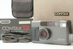 [top Mint In Box] Contax T2 Titan Black 35mm Point And Shoot Film Camera Japan