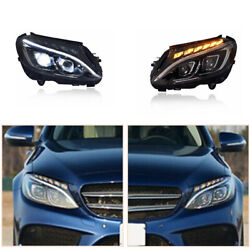 Led Headlights Assembly For Benz W205 2015-2021 Led Drl Replace Factory Halogen