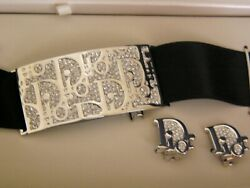 Vintage Christian Dior Silver Choker And Clipped Earrings Set