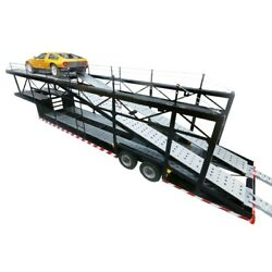 Trailer Car Transporter 6 Cars Style Open Black 1/18 - Mnt018 Mn Trailers
