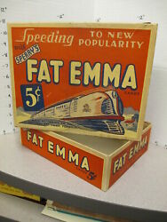 Fat Emma Diesel Train Engine 1930s Vintage Candy Box Store Display Sperry