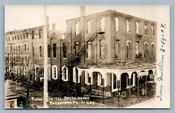 Boyertown Pa Ruins Of Opera House After Fire Antique Real Photo Postcard Rppc