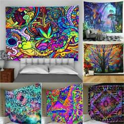Hippie Tapestry Wall Hanging Psychedlic Mandala Blanket Cover Home Room Decors
