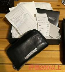 With Invoice Original Chrome Hearts Round Zip Wallet Chromehearts