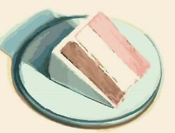 Slice Of Cake Diy Paint By Numbers Kit Home Acrylic Paintings Wall Decorations