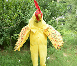 Halloween Rooster Mascot Costume Cosplay Party Clothing Carnival Adult Christmas