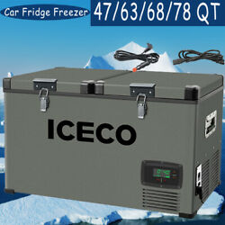 47/63/68/78qt Iceco Portable Refrigerator With Secop Compressor Camping Truck