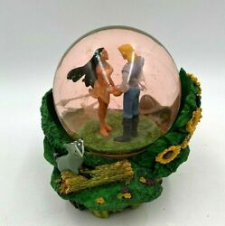 Disney Pocahontas Colors Of The Wind Sunflowers Musical Glass Snow Globe