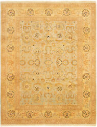 Vintage Tribal Area Rug 7and0399 X 10and0393 Authentic Oushak Hand Knotted Wool Carpet