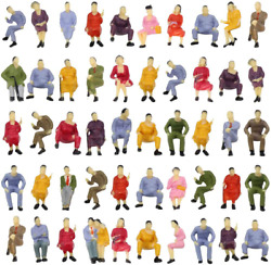 100pcs All Seated Sitting Figures O Gauge 150 Scale Seated People Train Layout