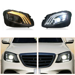Led Headlights Assembly For E-class W213 16-20 Led Drl Replace Factory Halogen
