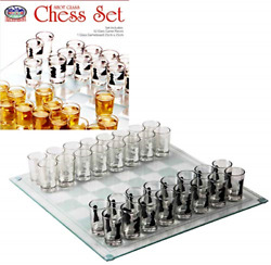 Shot Glass Chess Drinking Party Game Set 10 X 10 Fast Shipping