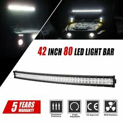 4d 42inch 560w Curved Led Light Bar Flood Spot Combo Off Road Truck 4wd 56000lm