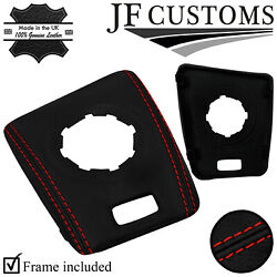 Red Stitch Leather Smg Automatic Shift Surround Trim For Bmw E46 M3 99-05