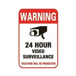 Surveillance Security Camera Video Sticker Warning Low Stickers Sign Z1p6
